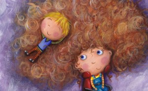 Illustration from Rebecca Elliott's book 'Just Because' about her disabled daughter and son