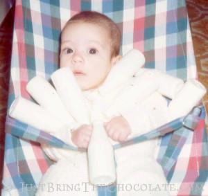 Renata as a baby