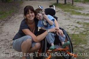 Renata and Dominic wheelchair bravo racer