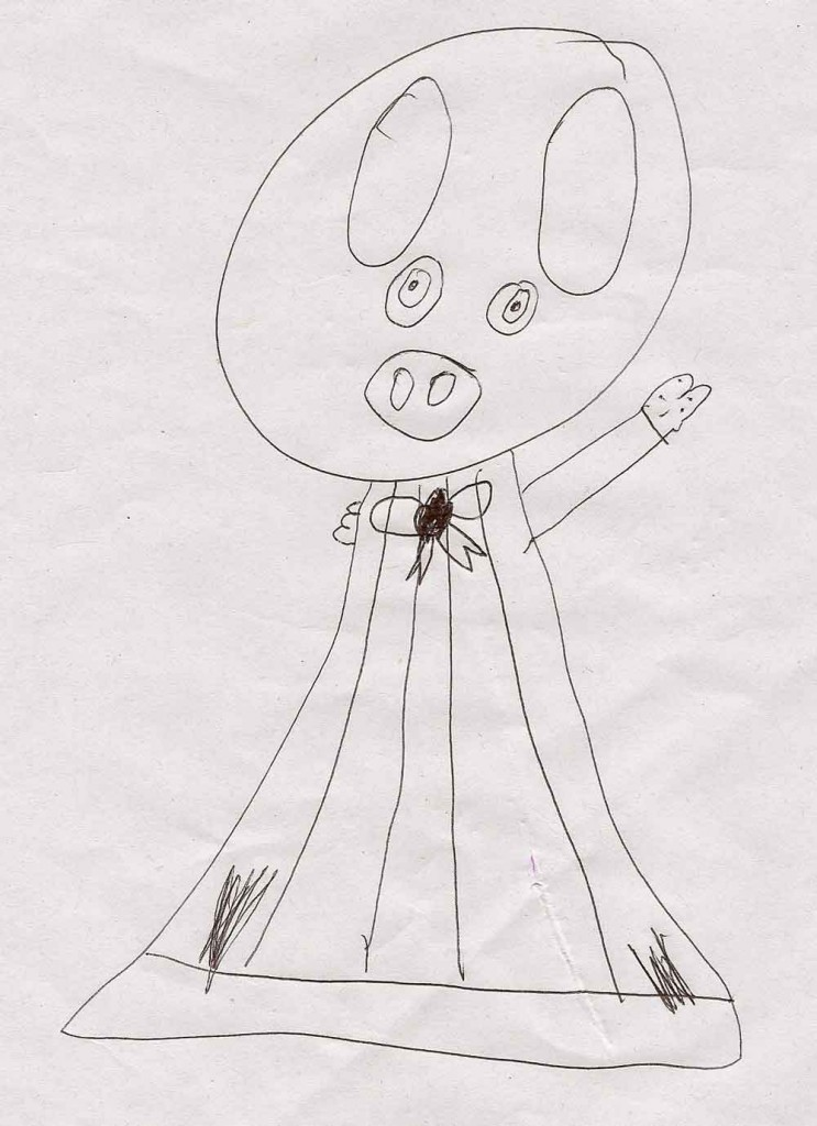 Lilia's picture of piggy blanket