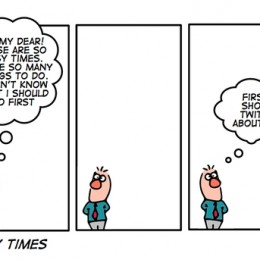 cartoon about being busy