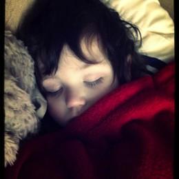 Dominic sleeping